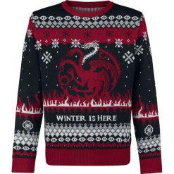 Gra o Tron Fire And Blood Sweter czarny/szary/czerwony. Czarne swetry klasyczne męskie Gra o Tron, s, z okrągłym kołnierzem. Za 244,90 zł.