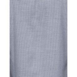 KOSZULA MĘSKA Z DŁUGIM RĘKAWEM K409 - BIAŁA/CZARNA. Brązowe koszule męskie marki Ombre Clothing, m, z aplikacjami, z kontrastowym kołnierzykiem, z długim rękawem. Za 49,00 zł.