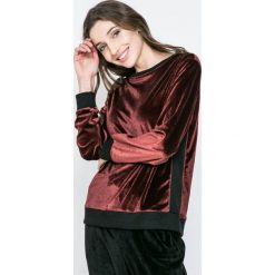 Dkny - Bluza piżamowa. Brązowe piżamy damskie marki DKNY, l, z dzianiny, z długim rękawem. W wyprzedaży za 199,90 zł.