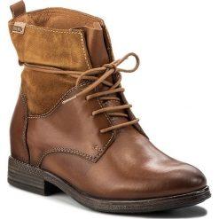 Botki PIKOLINOS - W8M-8923 Brandy/Tan. Brązowe buty zimowe damskie Pikolinos, z polaru, na obcasie. W wyprzedaży za 379,00 zł.
