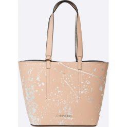 Calvin Klein - Torebka Inside Out Med Shopper Splash. Szare shopper bag damskie Calvin Klein, z materiału, na ramię, duże. W wyprzedaży za 479,90 zł.