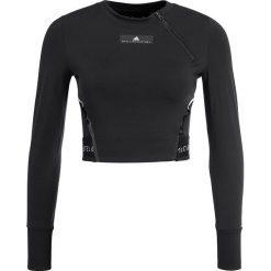 Adidas by Stella McCartney TRAIN CLIMACHILL Koszulka sportowa black. Czarne t-shirty damskie adidas by Stella McCartney, l, z elastanu, z długim rękawem. W wyprzedaży za 208,45 zł.