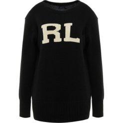Polo Ralph Lauren VARSITY Sweter black/cream. Czarne swetry klasyczne damskie Polo Ralph Lauren, l, z bawełny, polo. Za 839,00 zł.