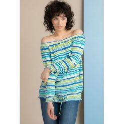 Bluzki asymetryczne: Bluzka w kolorowe prążki II