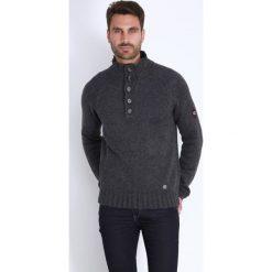 Golfy męskie: Sweter w kolorze ciemnoszarym
