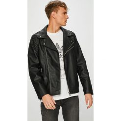 Guess Jeans - Kurtka. Czarne kurtki męskie jeansowe Guess Jeans, l, z aplikacjami. Za 799,90 zł.
