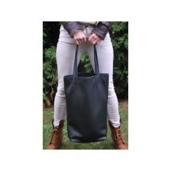 Duża skórzana torba Hobo. Czarne torby na laptopa Pracownia6-9, ze skóry, duże. Za 270,00 zł.