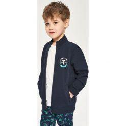 Bluza ze stójką - Granatowy. Białe bluzy chłopięce marki FOUGANZA, z bawełny. W wyprzedaży za 59,99 zł.