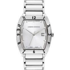 """Zegarki męskie: Zegarek kwarcowy """"Leandro"""" w kolorze biało-srebrnym"""