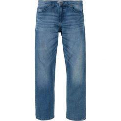 """Dżinsy ze stretchem Regular Fit Bootcut bonprix niebieski """"used"""". Czarne jeansy męskie regular marki bonprix. Za 99,99 zł."""