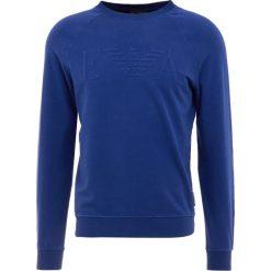 Emporio Armani FELPA Bluza blu surf. Szare bluzy męskie marki Emporio Armani, l, z bawełny, z kapturem. Za 559,00 zł.