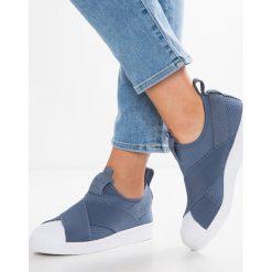 Adidas Originals SUPERSTAR SLIPON Półbuty wsuwane raw steeel/footwear white. Szare półbuty damskie skórzane marki adidas Originals. Za 379,00 zł.