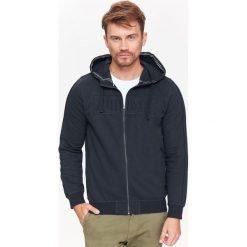 BLUZA MĘSKA ROZPINANA Z KAPTUREM. Czarne bluzy męskie rozpinane marki Top Secret, na jesień, m, z kapturem. Za 64,99 zł.