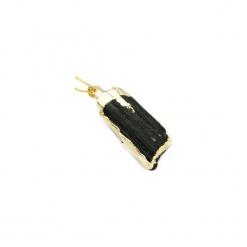 Naszyjnik Turmalin złote boki. Czarne naszyjniki damskie Brazi druse jewelry, na co dzień, srebrne. Za 170,00 zł.