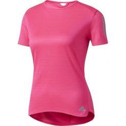 Adidas Koszulka RS SS TEE W SHOPIN różowa r. S. Szare topy sportowe damskie marki Adidas, l, z dresówki, na jogę i pilates. Za 111,50 zł.
