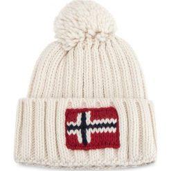 Czapka NAPAPIJRI - Semiury 1 N0YGSE Bright White 002. Białe czapki zimowe damskie marki Napapijri, z materiału. W wyprzedaży za 139,00 zł.