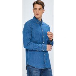 Tommy Hilfiger - Koszula. Szare koszule męskie jeansowe marki TOMMY HILFIGER, l, button down, z długim rękawem. Za 359,90 zł.