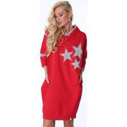 Sukienki: Sukienka z gwiazdkami czerwona 1650