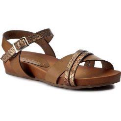 Rzymianki damskie: Sandały VIA RAVIA – WAB-090-LY1 Brązowy
