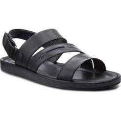 Sandały KRISBUT - 1157-1-1 Czarny. Czarne sandały męskie skórzane marki Krisbut. W wyprzedaży za 169,00 zł.