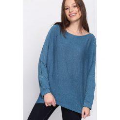 Bluzki damskie: Niebieska Bluzka Concurrence