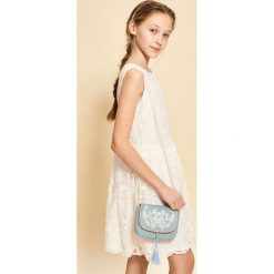 Torebki i plecaki damskie: Jeansowa torebka z haftem – Niebieski