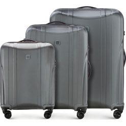Zestaw walizek 56-3P-91S-00. Szare walizki marki Wittchen, z gumy, duże. Za 778,41 zł.