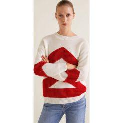 Mango - Sweter Andrew. Szare swetry klasyczne damskie marki Mango, l, z dzianiny, z okrągłym kołnierzem. W wyprzedaży za 69,90 zł.