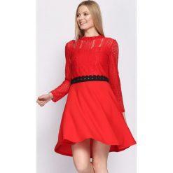 Czerwona Sukienka Emotionless. Czerwone sukienki mini marki Mohito, l, z weluru. Za 79,99 zł.
