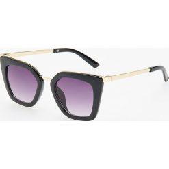 Okulary przeciwsłoneczne - Czarny. Szare okulary przeciwsłoneczne damskie lenonki marki ORAO. Za 49,99 zł.