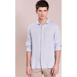 Koszule męskie na spinki: 120% Lino CAMICIA UOMO Koszula light blue