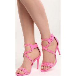 Różowe Sandały My Sins. Czarne sandały damskie marki Kazar, z nubiku, na wysokim obcasie, na szpilce. Za 89,99 zł.