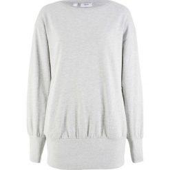 """Bluza """"oversize"""" bonprix jasnoszary melanż. Szare bluzy damskie bonprix, melanż. Za 74,99 zł."""