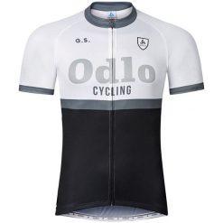 Odlo Koszulka rowerowa Stand-up collar s/s Ride biało-czarna r.L (410972). Odzież rowerowa męska Odlo, l. Za 93,69 zł.