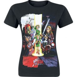 The Legend Of Zelda All Together Koszulka damska czarny. Czarne t-shirty damskie The Legend Of Zelda, m, z nadrukiem, z okrągłym kołnierzem. Za 32,90 zł.