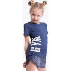 Bluzki dziewczęce: Koszulka sportowa dla małych dziewczynek JTSD303z – granatowy