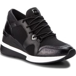 Sneakersy MICHAEL MICHAEL KORS - Liv Trainer 43T8SCFS1D  Black. Czarne sneakersy damskie marki MICHAEL Michael Kors, z gumy, przed kolano, na wysokim obcasie. Za 759,00 zł.