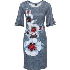 Sukienki: Sukienka bonprix niebieski z kolorowym nadrukiem