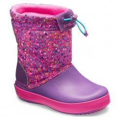 Crocs Buty Crocband Lodgepoint Graphic Boot Neon Magenta/Amethyst 30-31 (c13). Czerwone buciki niemowlęce chłopięce Crocs, na zimę, z materiału. Za 285,00 zł.