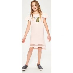 Sukienki dziewczęce: Sukienka z cekinowym awokado – Kremowy