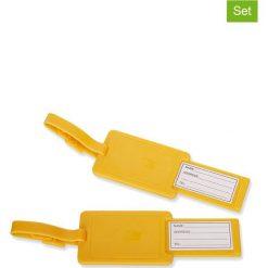 Walizki: Zawieszki (2 szt.) w kolorze żółtym do bagażu