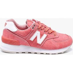 New Balance - Buty WL574CHE. Różowe buty sportowe damskie New Balance, z gumy. W wyprzedaży za 299,90 zł.