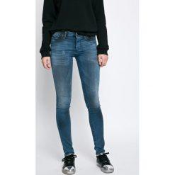 Diesel - Jeansy. Niebieskie jeansy damskie rurki Diesel, z bawełny. W wyprzedaży za 649,90 zł.