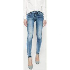 Pepe Jeans - Jeansy Pixie. Różowe jeansy damskie marki Pepe Jeans, z gumy, na sznurówki. W wyprzedaży za 269,90 zł.