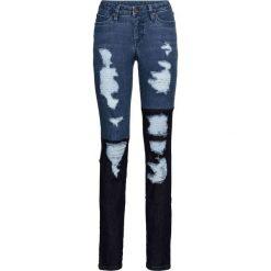 """Dżinsy SKINNY z wstawkami bonprix niebieski """"stone"""". Niebieskie jeansy damskie skinny marki House, z jeansu. Za 59,99 zł."""