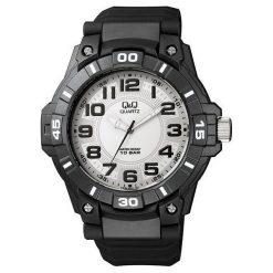 Zegarek Q&Q VR86-001 Męski Wodoszczelny. Czarne zegarki męskie Q&Q. Za 104,60 zł.