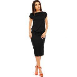 Sukienki: Czarna Letnia Midi Sukienka bez Rękawów