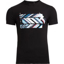 T-shirt męski TSM612 - czarny - Outhorn. Czarne t-shirty męskie Outhorn, na lato, m, z bawełny. W wyprzedaży za 29,99 zł.