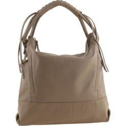 Torebki klasyczne damskie: Skórzana torebka w kolorze szarobrązowym – 35 x 32 x 10 cm