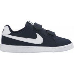 Nike Obuwie Dziecięce Court Royale (Psv) 31.5. Niebieskie buciki niemowlęce chłopięce marki Born2be, z materiału, z okrągłym noskiem, na obcasie. W wyprzedaży za 125,00 zł.